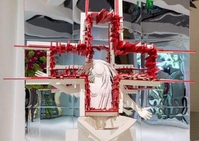 Pour la 66e Edition du Gala de la Croix-Rouge Monégasque, l'artiste et sculpteur humaniste Mateo Mornar crée ainsi « Gaïa ».