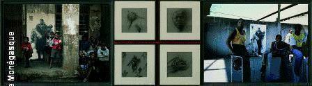 """Oeuvre offerte par ERNEST PIGNON ERNEST pour le Gala en 2005 : Photos des sérigraphies """"in situ """" et dessins préparatoires réalisés en Afrique du Sud en 2002 sur le thème du sida"""