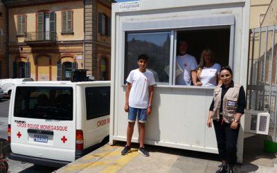 La Croix-Rouge facilite la mise en place d'un point-info sur la migration à la gare de Vintimille