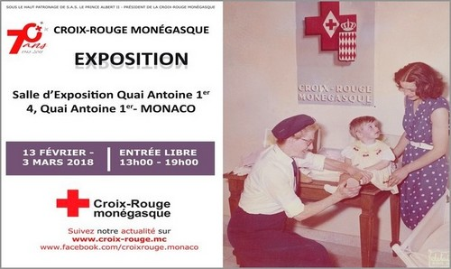 Exhibition in celebration of 70 years of action of the Monaco Red Cross