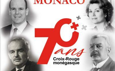 S.A.S. le Prince Albert II a visité l'exposition des 70 ans de la Croix-Rouge monégasque
