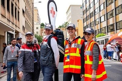 Le Grand Prix F1 en toute sécurité avec la Croix-Rouge