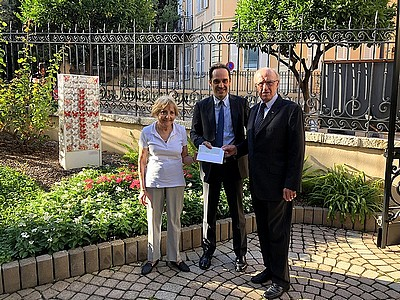 Monaco – USA: a donation for the Red Cross